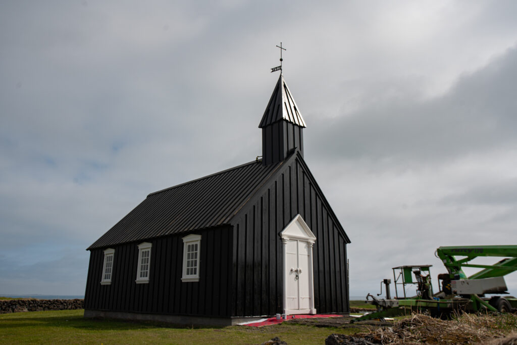 One of the famous Icelandic Black Churches outside of Hellnar in west Iceland