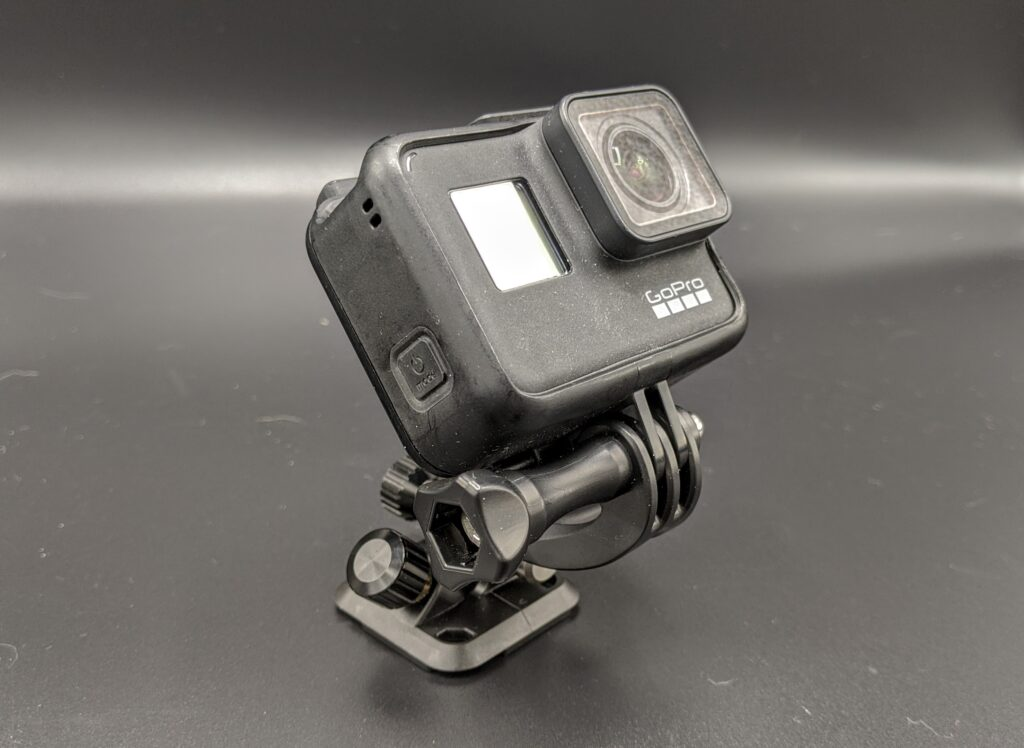 gopro hero 7 on a peak design POV kit used for a secondary camera